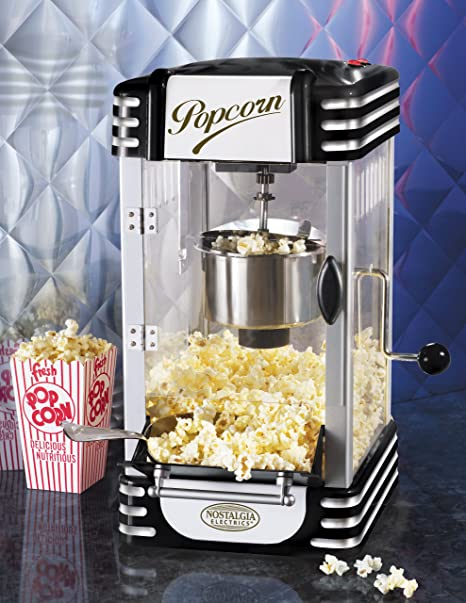 Nostalgia Electrics RKP-630BLK Retro Series Kettle Popcorn Maker, Black