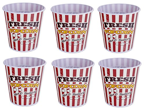 Popcorn Buckets - Set of 6