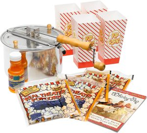 Whirley Pop Warm Buttery Popcorn Bowl Gift Set